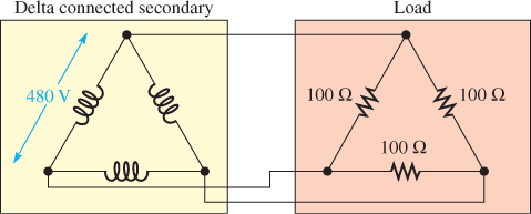 Delta Connected Secondary and Load