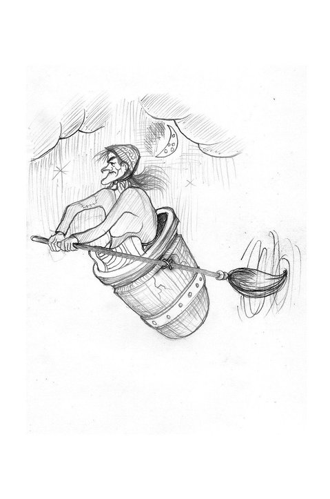mila baba yaga with barrel