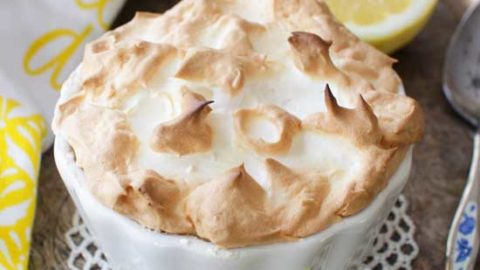 Lemon Meringue Pie For One | One Dish Kitchen