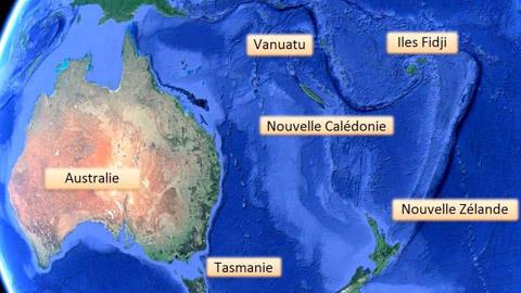 Zone Pacifique Nouvelle Calédonie