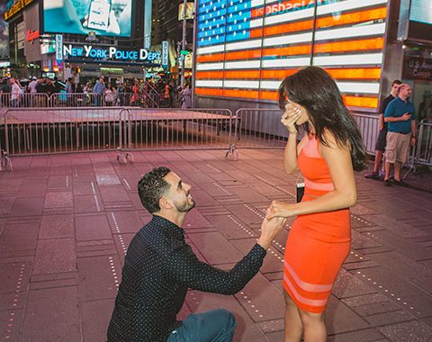 times square billboard wedding proposal nyc