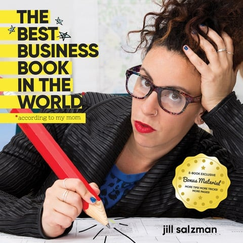 Photo of Jill Salzman ebook cover of The Best Business Book in the world (according to my mother)