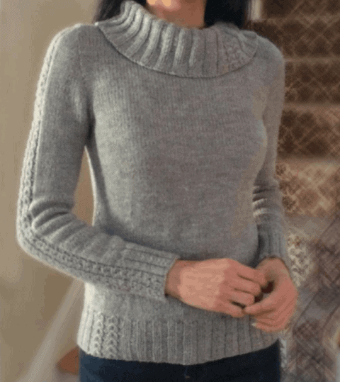 Knitted sweater Love Knitting
