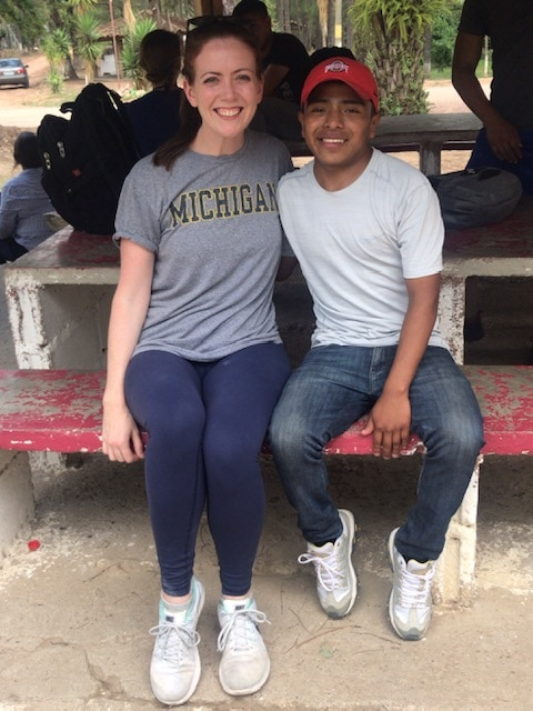 Julie Dobrusin, MHSA'17, proudly wore her Michigan shirt as she volunteered at Sociedad Amigos de los Niños (SAN), an orphanage in Honduras, during a service trip. One afternoon, she noticed one of the boys was sporting an Ohio State University cap. She connected with him by explaining the storied rivalry between the schools. Founded in 1966, SAN provides care for children and, at times, their mothers in an otherwise desolate population with few options. For more information, visit www.virtuinc.org.