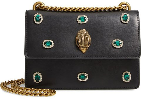 Kurt Geiger London Small Shoreditch Embellished Leather Crossbody Bag | 40plusstyle.com