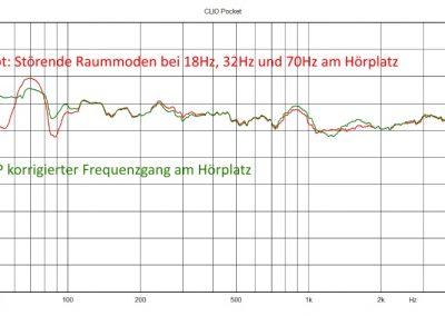 TYRON 21 - DSP korrigierter Frequenzgang