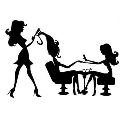salon kosmetyczny czarna naklejka na ścianę