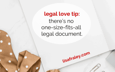 Can't I just use 1 legal document for everything?