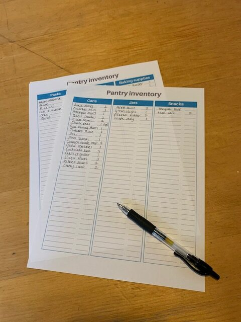 How to Inventory your Pantry. With free download of printable inventory sheet