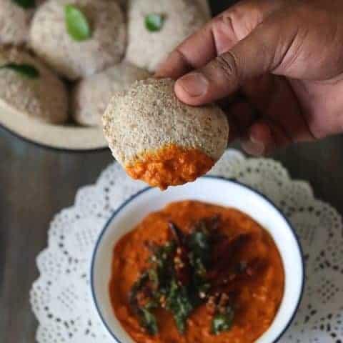 South Indian Tomato Chutney For Idli Dosa