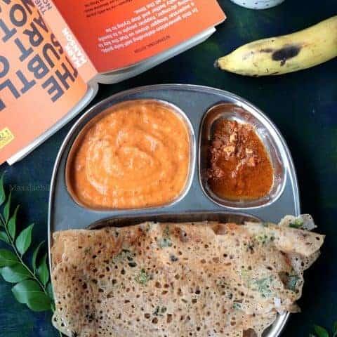 Crispy Ragi Rava dosa recipe