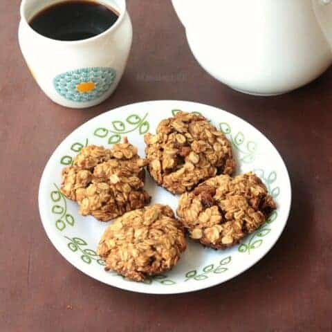Eggless Oatmeal Raisin Cookies Recipe