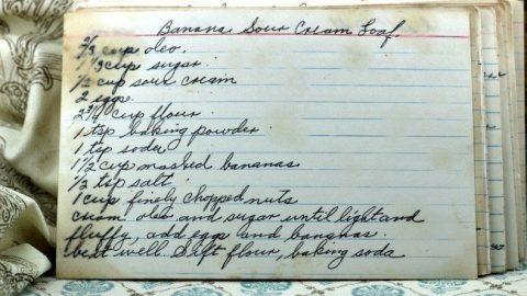 Banana Sour Cream Loaf