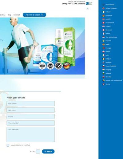 Acuraflex.com - Language menu