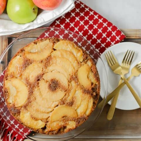 Upside Down Apple Cake {gluten free}