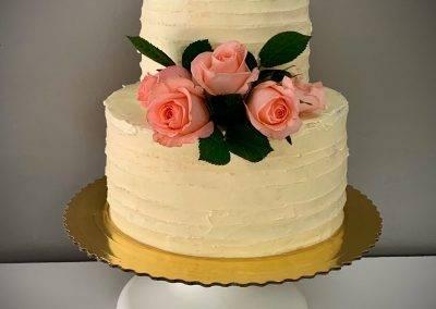 tort krem maslany + roze