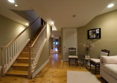 historic basement remodel