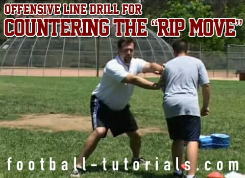 offensive line drill countering the rip