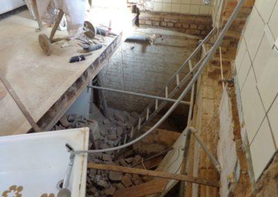 Abbruch der alten Holzbalkendecke