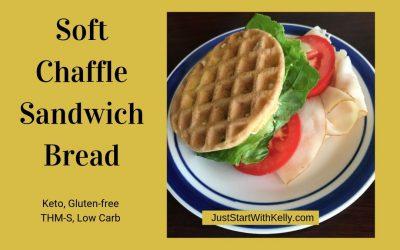 Soft Sandwich Bread Chaffle Recipe (Keto, Gluten free, Dairy free, THM S, Low Carb)
