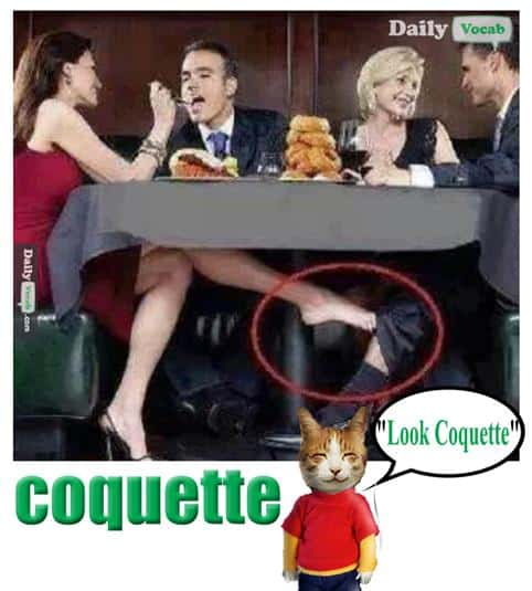 Coquette English Hindi meaning