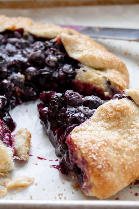 lueberry Galette. Fresh blueberries baked in an all butter pie crust comes together so easily, it will change your mind about making homemade pie! crust.