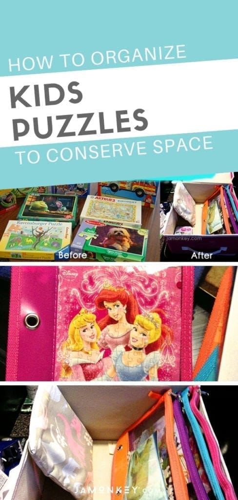 How Organize Kids Puzzles to Conserve Space