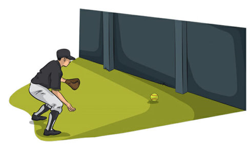 At Home Baseball Drills - Wall Ball Baseball Fielding Drill