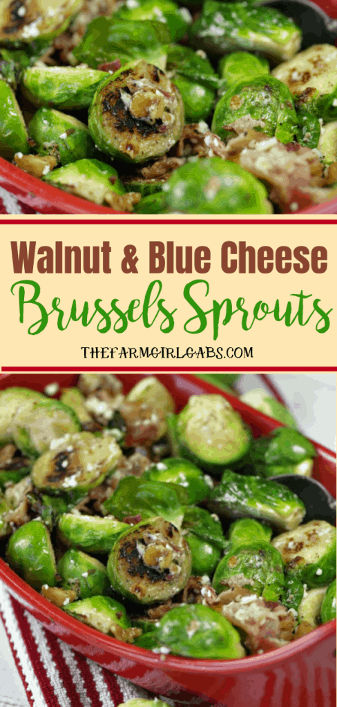 Think you don't like Brussels Sprouts?Think again.This tasty Walnut And Blue Cheese Brussels Sprouts recipe is the perfect side dish that will definitely change your mind. #brusselssprouts #sidedish #vegetables #ThanksgivingRecipe