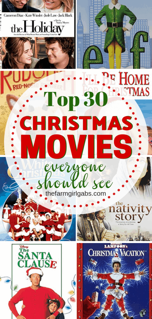 Tis the season to Plan An Ultimate Christmas Movie Night! Put your comfy pajamas on, pop some popcorn and put on one of these 30 Christmas movies everyone should see. #ChristmasMovies #MovieNight #ChristmasParty #movies #family