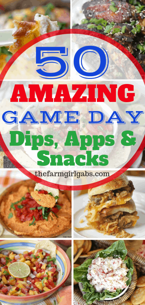 Score big and your Game Day party with a fantastic spread of these Amazing Dips, Apps,And Snacks! #GameDayRecipes #Dips #Appetizers #Snacks #Football #TailgateRecipes
