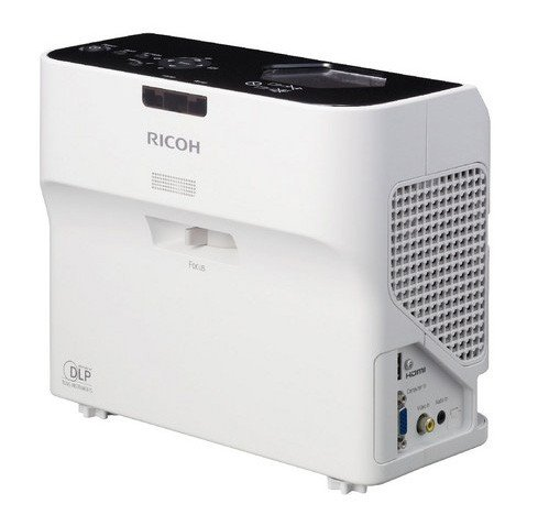 ultra short throw Ricoh video projector