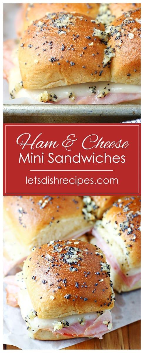Hot Ham and Cheese Mini Sandwiches