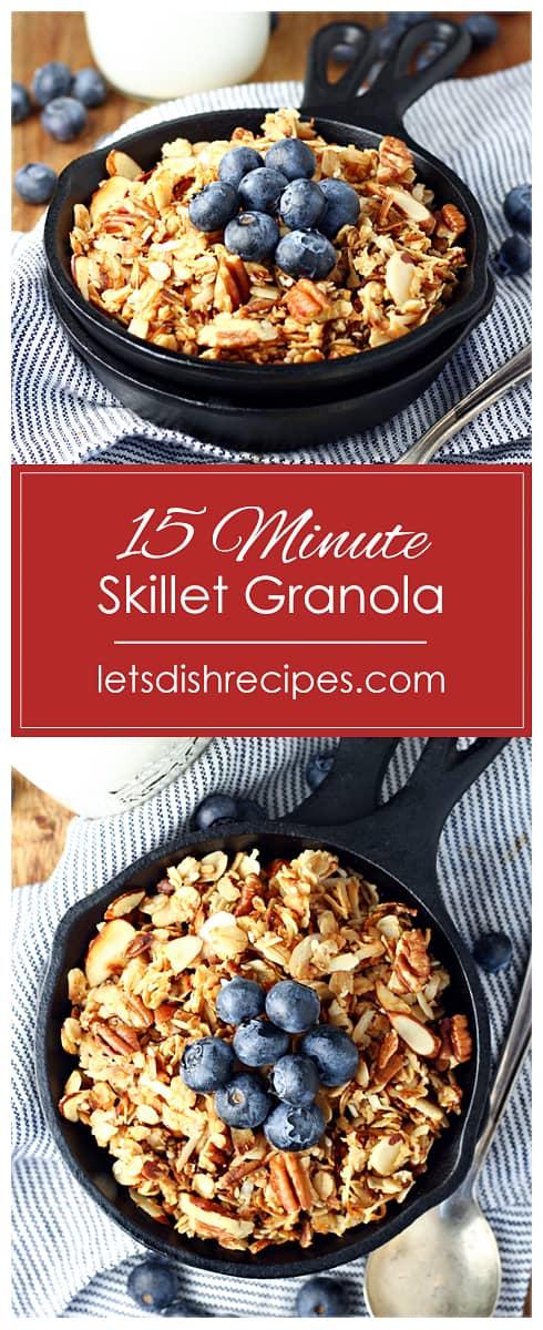 Fifteen Minute Skillet Granola