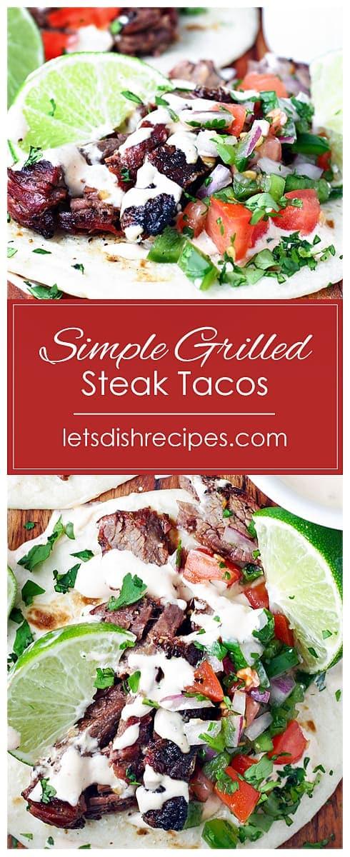 Simple Grilled Steak Tacos