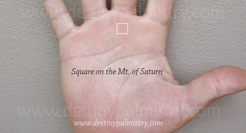 square on saturn mount on palm