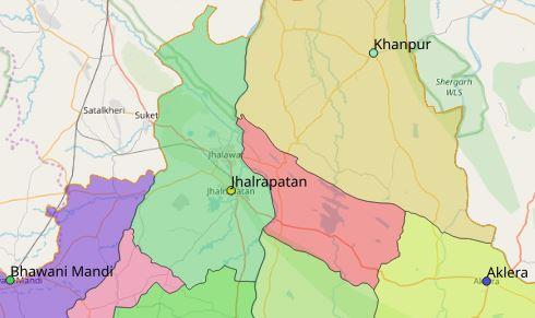 Map of Jhalrapatan City in Jhalawar