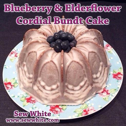 blueberry elderflower bundt