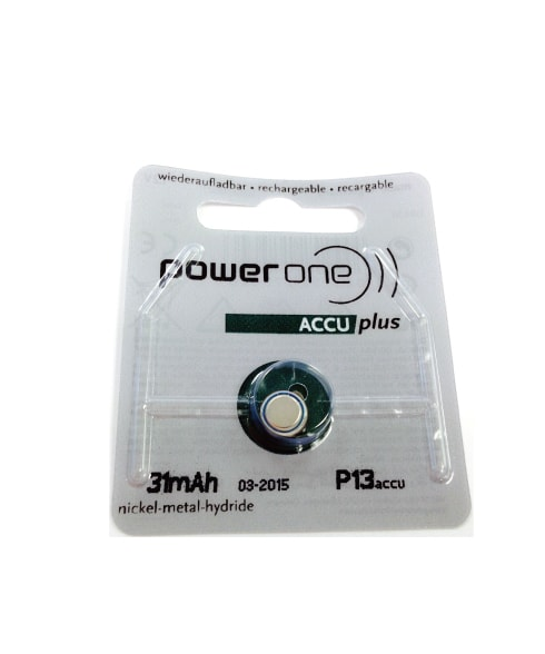 Power One Rechargeable Size 13 ACCU Hearing Aid Batteries