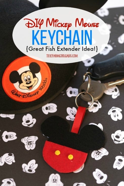 Isn't this adorable! This DIY Mickey Mouse Keychain is a super simple Disney craft. It is also a great fish extender gift to make for your upcoming Disney Cruise.