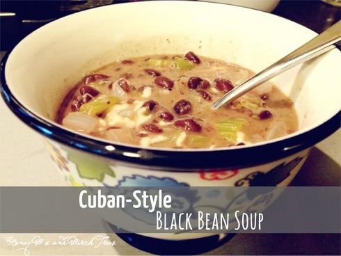 Cuban Black Bean Soup   Honey and Birch