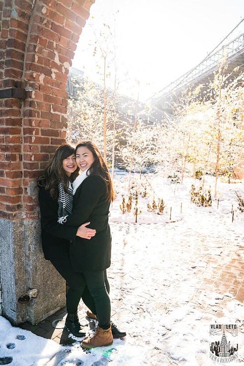 Photo 7 Same Sex proposal by Brooklyn Bridge + Engagement in Central Park | VladLeto