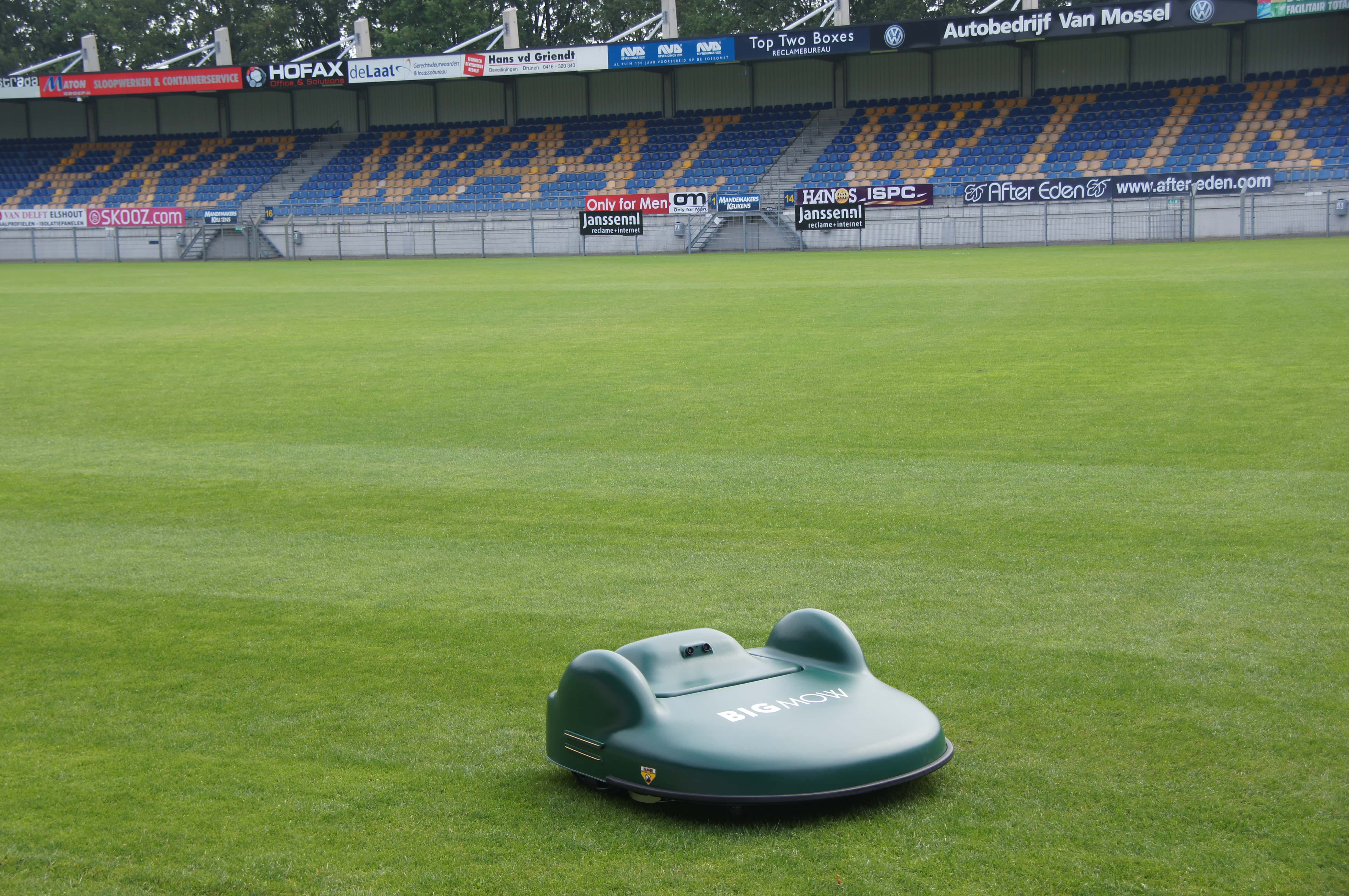 robotic mower for football pitch maintenance