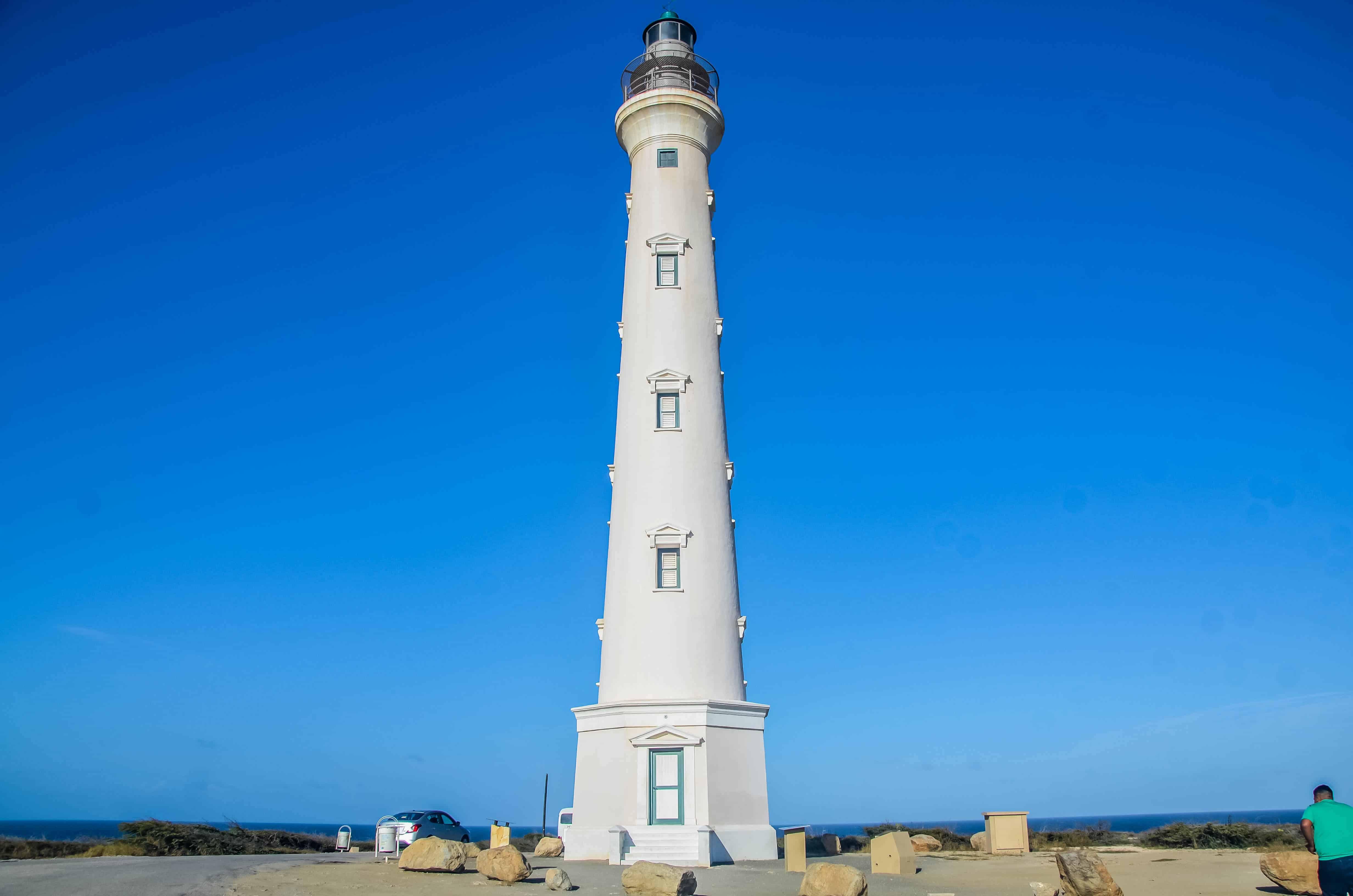 where is the california lighthouse in Aruba ?