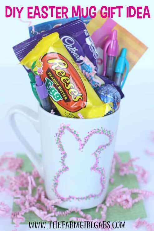 This Bunny Sharpie Mug is an easy DIY craft project that also makes a perfect gift idea for your favorite teen or tween