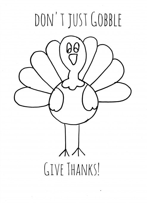 Second Chance to Dream: Turkey Coloring Page