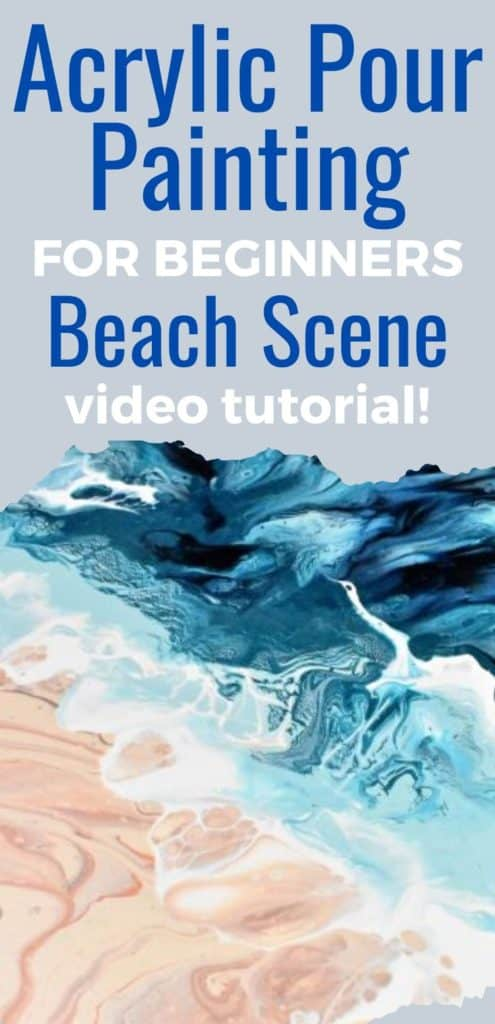 Acrylic Paint Pouring for Beginners Beach Scene Video Tutorial