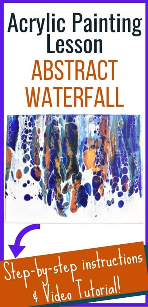 Acrylic Painting Lesson Abstract Waterfall