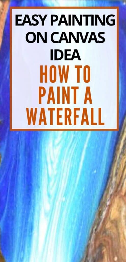 Easy Painting on Canvas Idea How to Paint a Waterfall