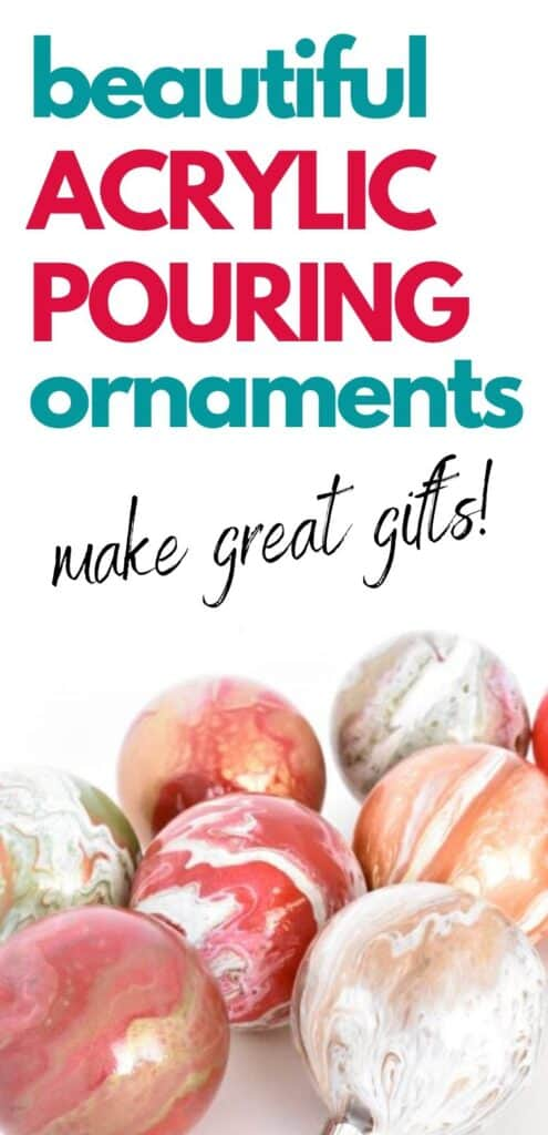 Beautiful Acrylic Pouring Ornaments